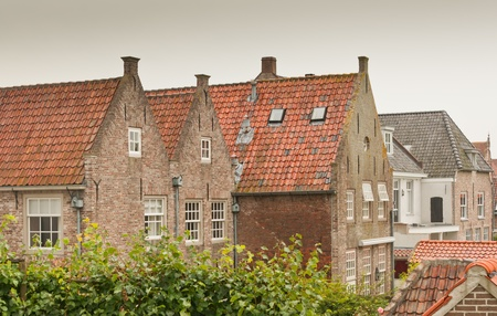 Colorful roofs and facades in the historic Dutch town of Heusden Stock Photo - 10327237