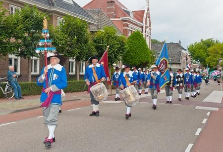 marching band: Terheijden, North-Brabant, Netherlands, August 28, 2011,  Guild festival in the Dutch village of Terheijden Editorial