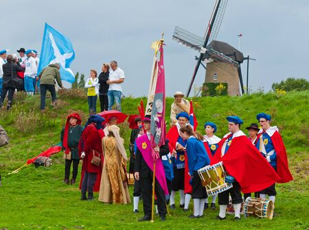 Terheijden, North-Brabant, Netherlands, August 28, 2011,  Guild festival in the Dutch village of Terheijden Stock Photo - 10573227