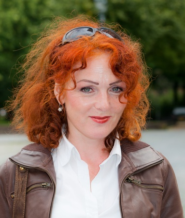 Breda, North-Brabant, Netherlands, September 4, 2011, Redhead Day in the Dutch city of Breda. Thousands of redheads came to meet each other, to get information and to show themselves and to be photographed. Stock Photo - 10573236