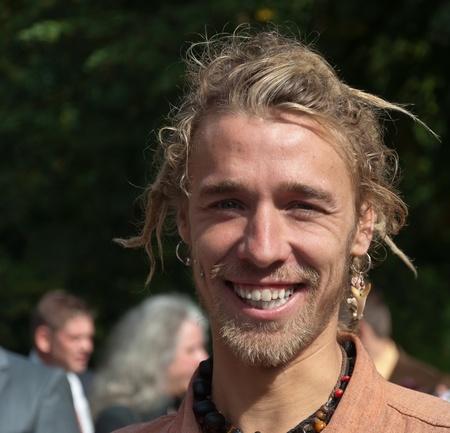Young Belgian man with an alternative look, Merksplas, Belgium, September 24, 2011