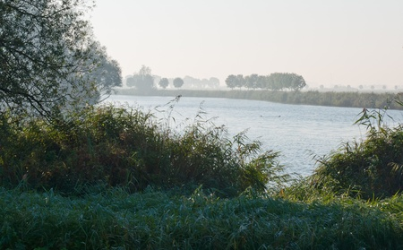 Dutch landscape early in the morning photo
