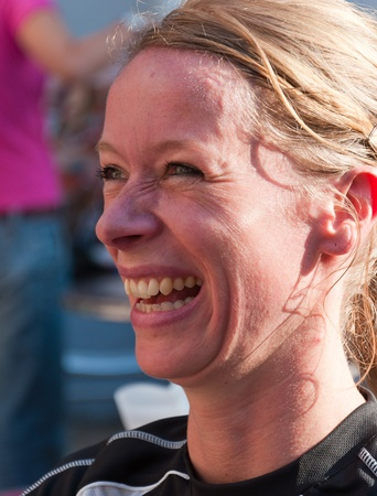 Portrait of a runner prior to the yearly Canal Run 2011, Breda, Netherlands, October 2, 2011 Stock Photo - 10753099