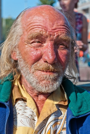 and distinctive: Distinctive man, a colorful portrait of a man in the streets of the Dutch city of Breda on October 2, 2011