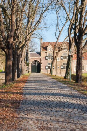 stately: The cobblestone driveway of Bouvigne Castle, opposite the Mastbos (literally Mast Forest) on the outskirts of the Dutch city Breda.