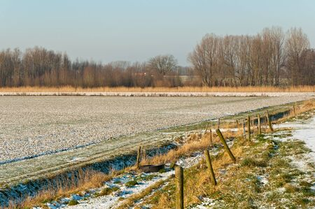 north brabant: The real winter has begun in the Netherlands. It is freezing and some snow has fallen.
