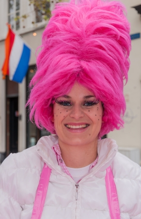 Breda, North-Brabant, Netherlands – May 5, 2012 – Street portrait of a candyfloss seller at Liberation Day on May 5, 2012 at the Grote Markt in the Dutch city of Breda.