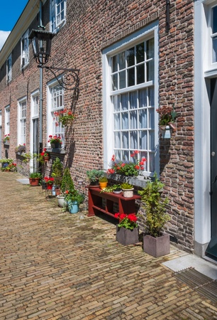 Close-up of the facade of houses in the Begijnhof in the Dutch city of Breda Stock Photo - 14491740