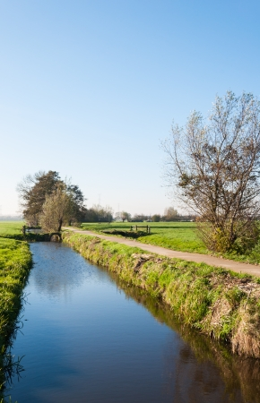 Rural polder landscape  in the Netherlands. it is autumn now. photo