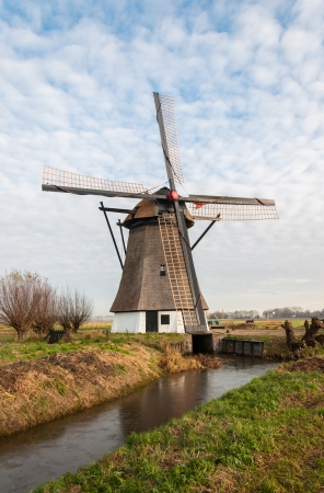This old windmill was built around the year 1700 to drain the water from a Dutch polder. photo