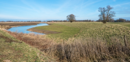 Meandering ditch in a newly impoldered area in the Netherlands Stock Photo - 17988952