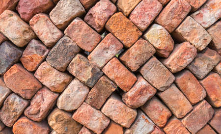 loosely: Loosely stacked brick wall at an old brick factory in Belgium. Stock Photo