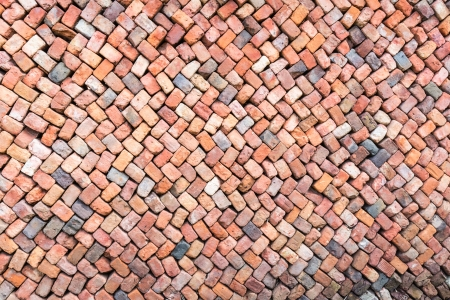 coherent: Loosely stacked brick wall at an old brick factory in Belgium.  All baked from the same clay but still not identical.