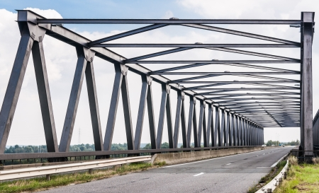The Noordlandbridge is a truss bridge in the surroundings of Antwerp in Belgium  photo