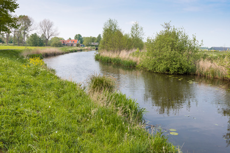 Colorful Dutch rural landscape in the spring season. photo