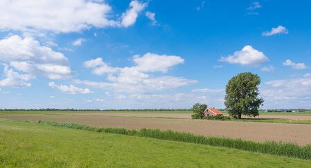 Rural landscape on a sunny day in the spring season. photo