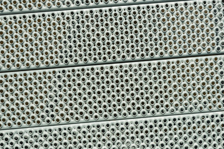 nonslip: Close-up of sheet steel panels with a non-slip profile.