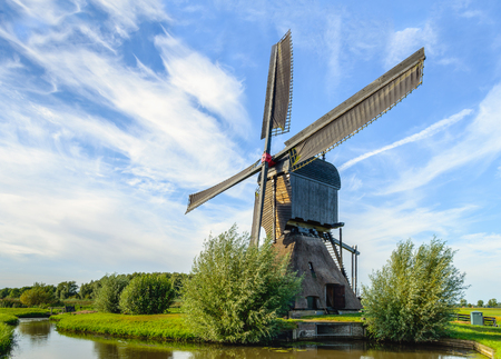 Mill Het Noordeveld, commonly known as Noordeveldse Molen, is a large wooden hollow post mill with a thatched stone base and an open paddlewhleel. The polder mill was originally built in 1795 and after a fire in 1992, completely restored in 1997.