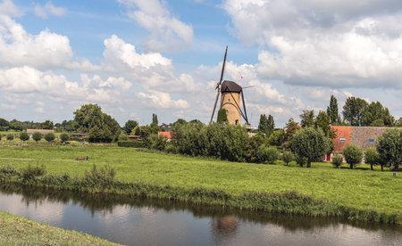View over the Dutch village of Terheijden from the