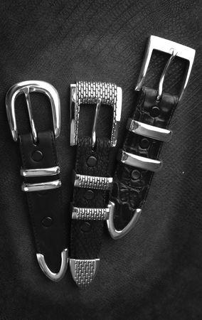 buckles: Silver Belt Buckles Stock Photo