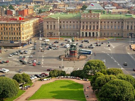 saint petersburg: Sunny square in Saint Petersburg, Russia