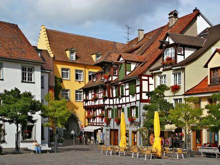 germany: Quiet street in an old town Meersburg, Germany