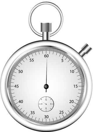 The stopwatch on white background  Isolated