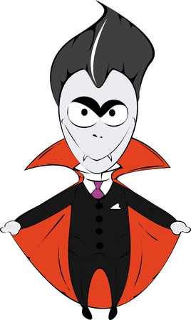 Boy in the Dracula costume