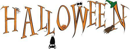 Fun halloween inscription