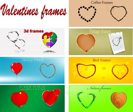 Some number of valentines frames   Illustration