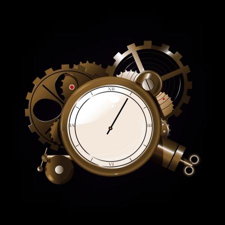 Cartoon watch mechanism  Can be use as background, wallpaper, design element