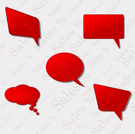 Speach bubbles  Vector Stock Vector - 23641695