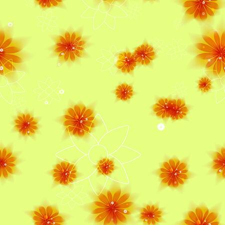 Flower seamless  Vector Illustration