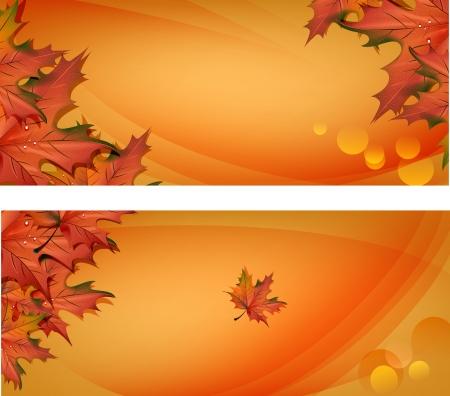 Autumn banners, vector