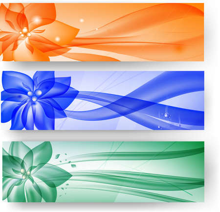Abstract banners  Vector Illustration