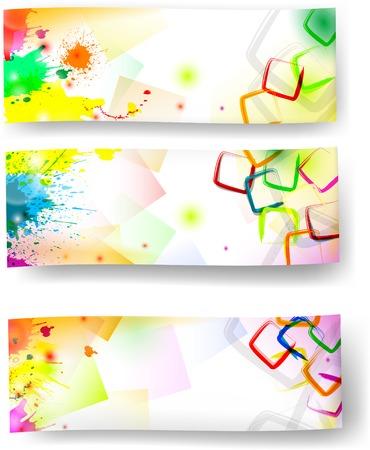 Artisric banners  Vector Illustration
