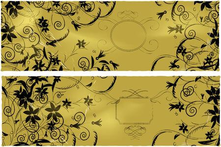 Flower banners  Vector Illustration
