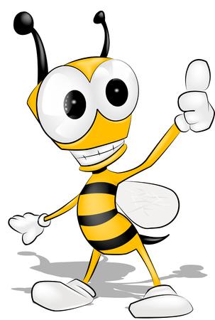 Cartoon bee.
