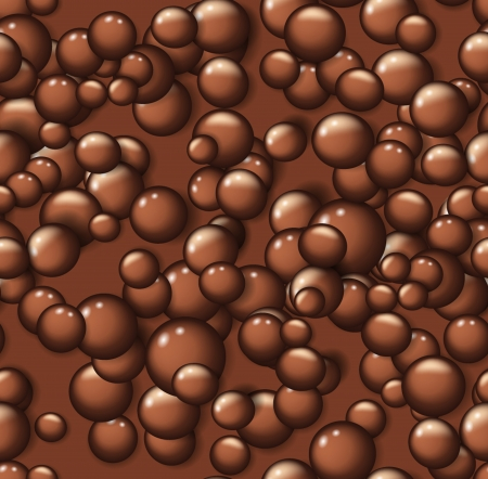 Chocolate bubbles seamless pattern Stock Vector - 24546370
