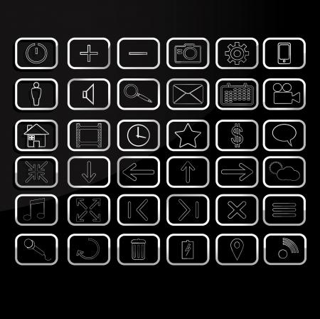 Media icon set  Vector eps 10 Stock Vector - 24636529