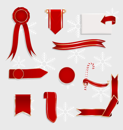 Ribbons and price tags. Vector