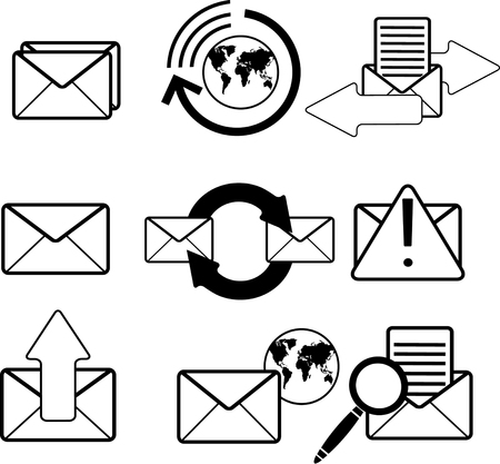 Mail icons. Vector Stock Vector - 24544761