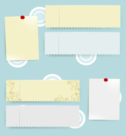 Messages tickets. Vector