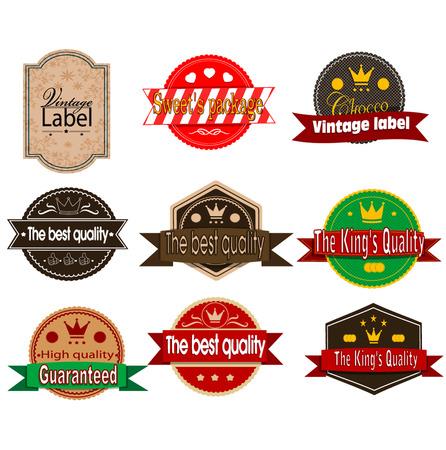Retro labels. Vector