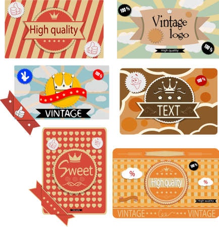 Vintage labels  Vector eps 10 Vector