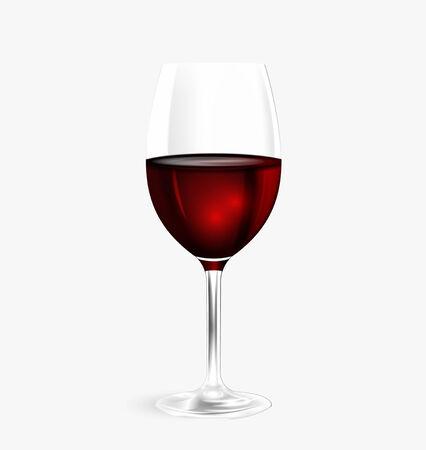 Glass of wine  Vector eps 10 Illustration