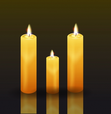 Candles. Vector eps 10