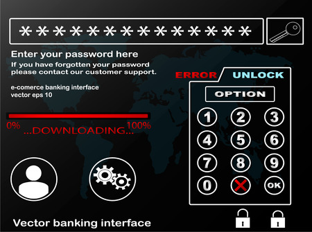 Internet banking interface. Vector