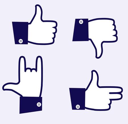 likes: Likes icons.