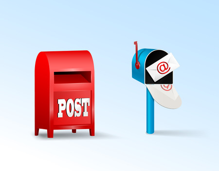 Post boxes.  Vector